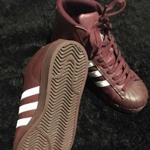 Burgundy Hightop Adidas